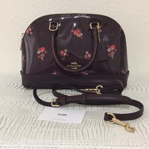 New Coach bouquet print mini satchel Crossbody bag